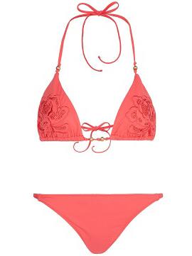 bikini color coral Guillermina Baeza para Mango Touch