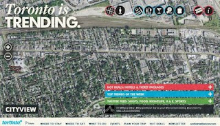 Screenshot: Toronto Is Trending. #JunctionTO on Google city view interactive map.