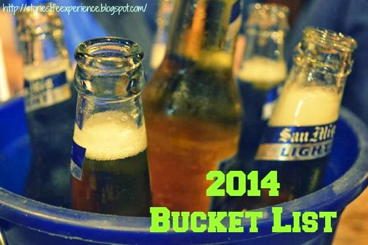 2014 bucket list