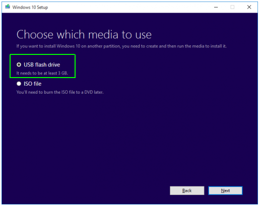 Upgrade Install Window 10 using USB Disk