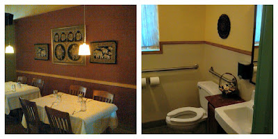 Nice decor and yes, the bathrooms were clean!