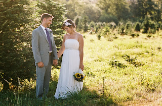 Caitlin and Ben afield for their wedding photographs.  Patricia Stimac, Seattle Wedding Officiant