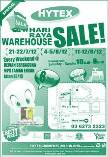 HYTEX Hari Raya Warehouse Sale 2012