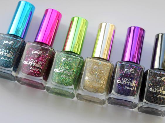 P2 - Lost in glitter polishes.