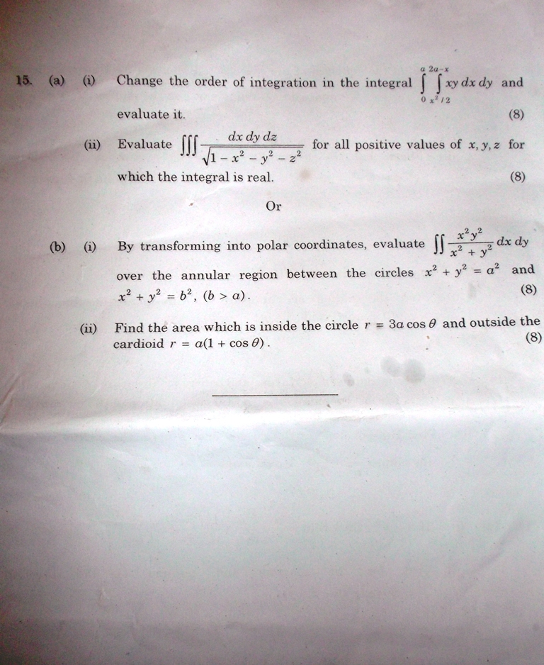 Anna University january 2013 maths Question paper  MA2111 Engineering mathematics 1