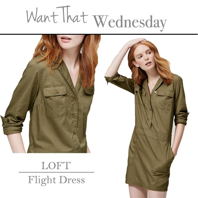 Loft Flight Shirt Dress