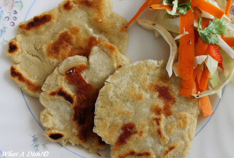 Salvadoran Pupusas Con Curtido (Masa Cakes With Cabbage ...