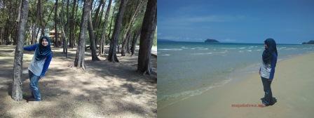 pantai air tawar besut terengganu, tempat menarik di terengganu, pantai cantik di terengganu