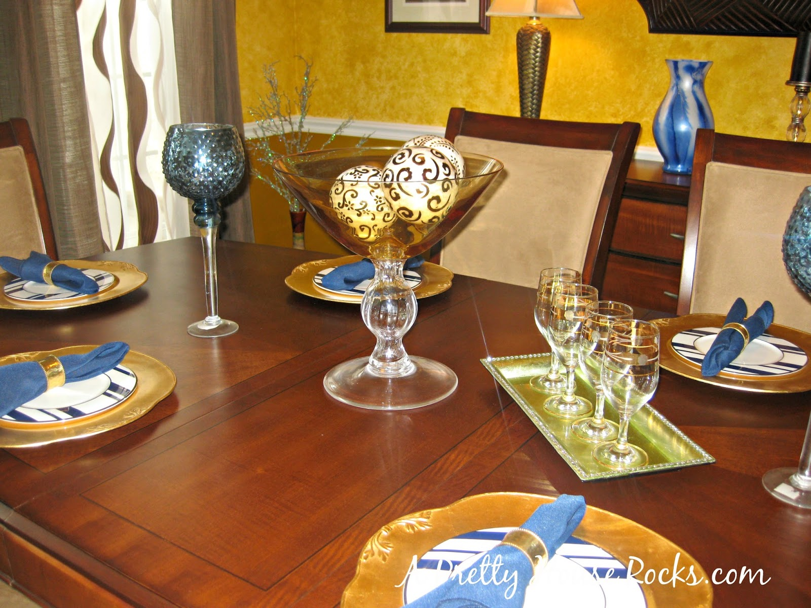 I Love The Color Blue And Wanted To Incorporate This Splash Of In My Dining Room