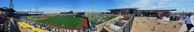 panorama, spring training baseball stadium, arizona, scottsdale