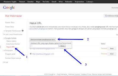 mengatasi cache google pada url
