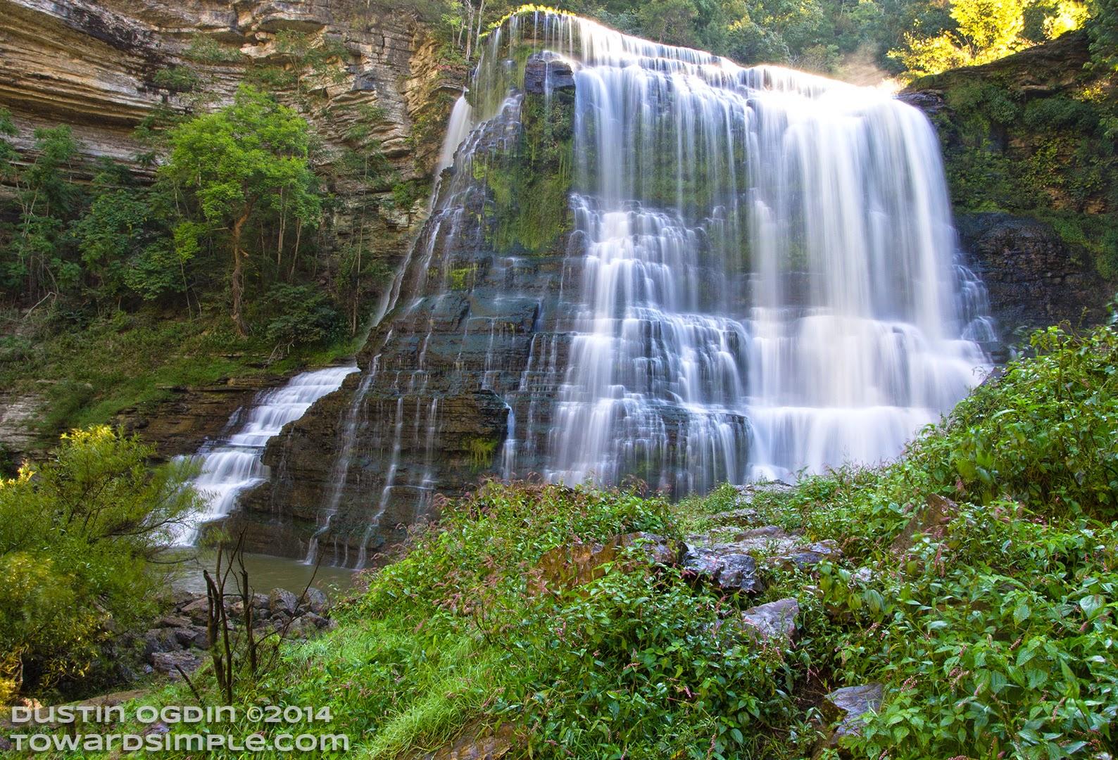 Burgess Falls, large falls