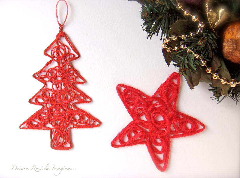 Decora recicla imagina adornos de navidad christmas ornament Adornos faciles para navidad