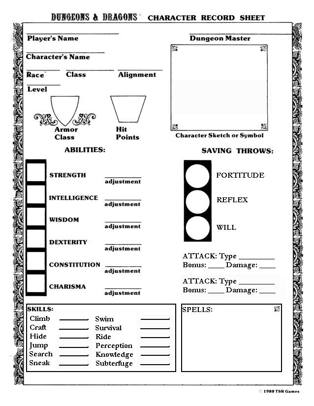 Dnd 5Th Edition Character Sheet Pdf