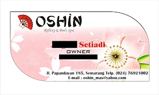 Contoh Desain Kartu Nama Oshin Refleksi dan Spa