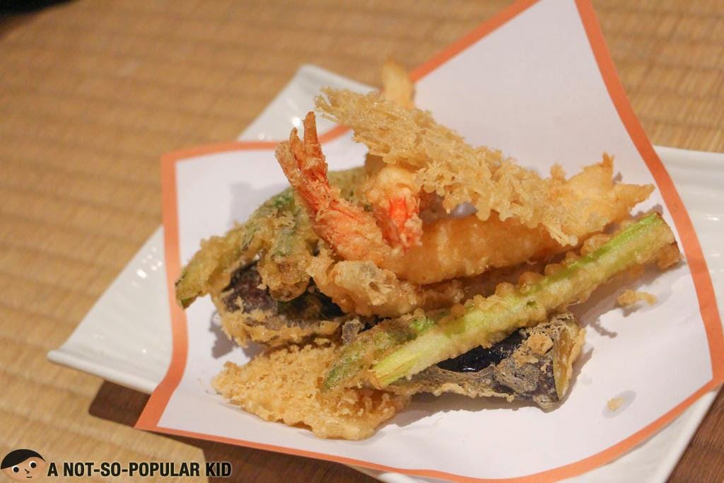 Tenpura Moriawase of Sugi Restaurant