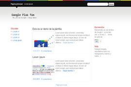 Plantilla Google Plus Fan