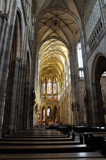 View down the central aisle