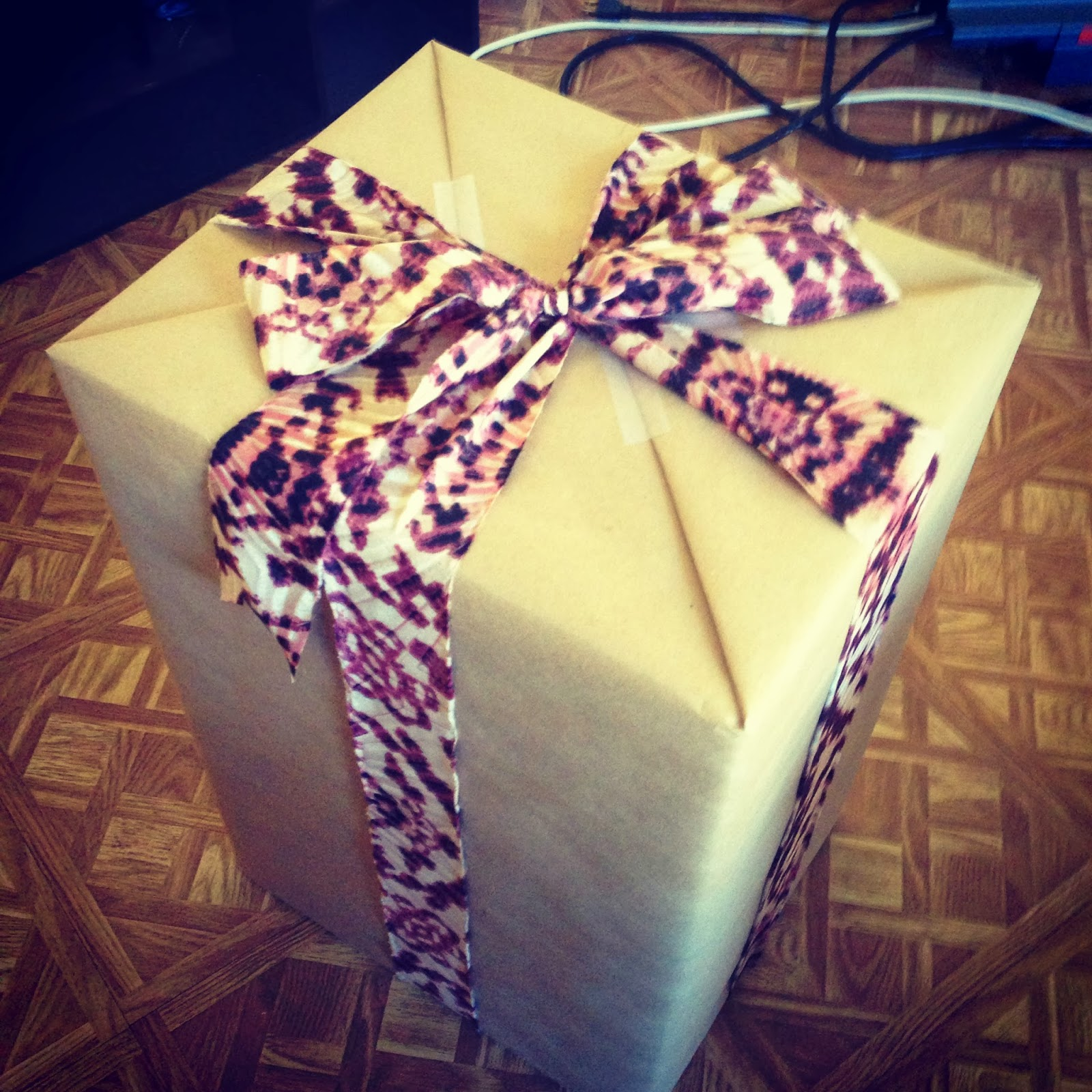 Brown Paper and Tie Dye Gift Wrap