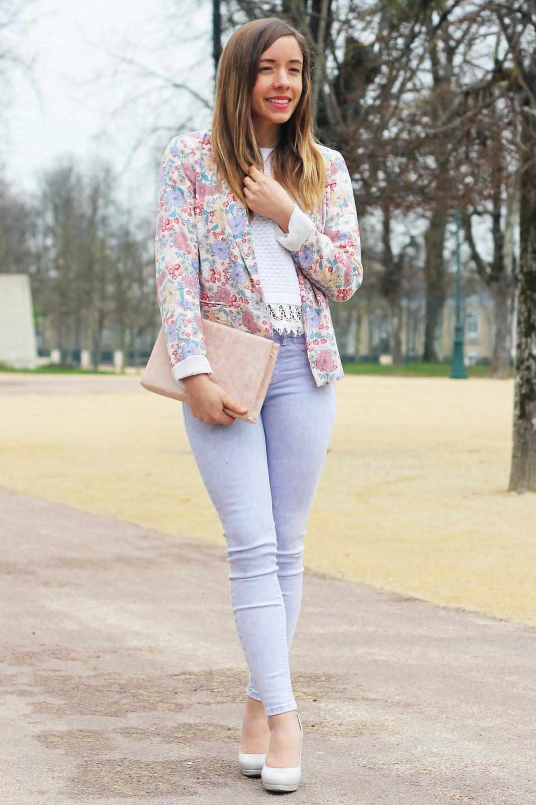 Tenue printemps pantalon lilas
