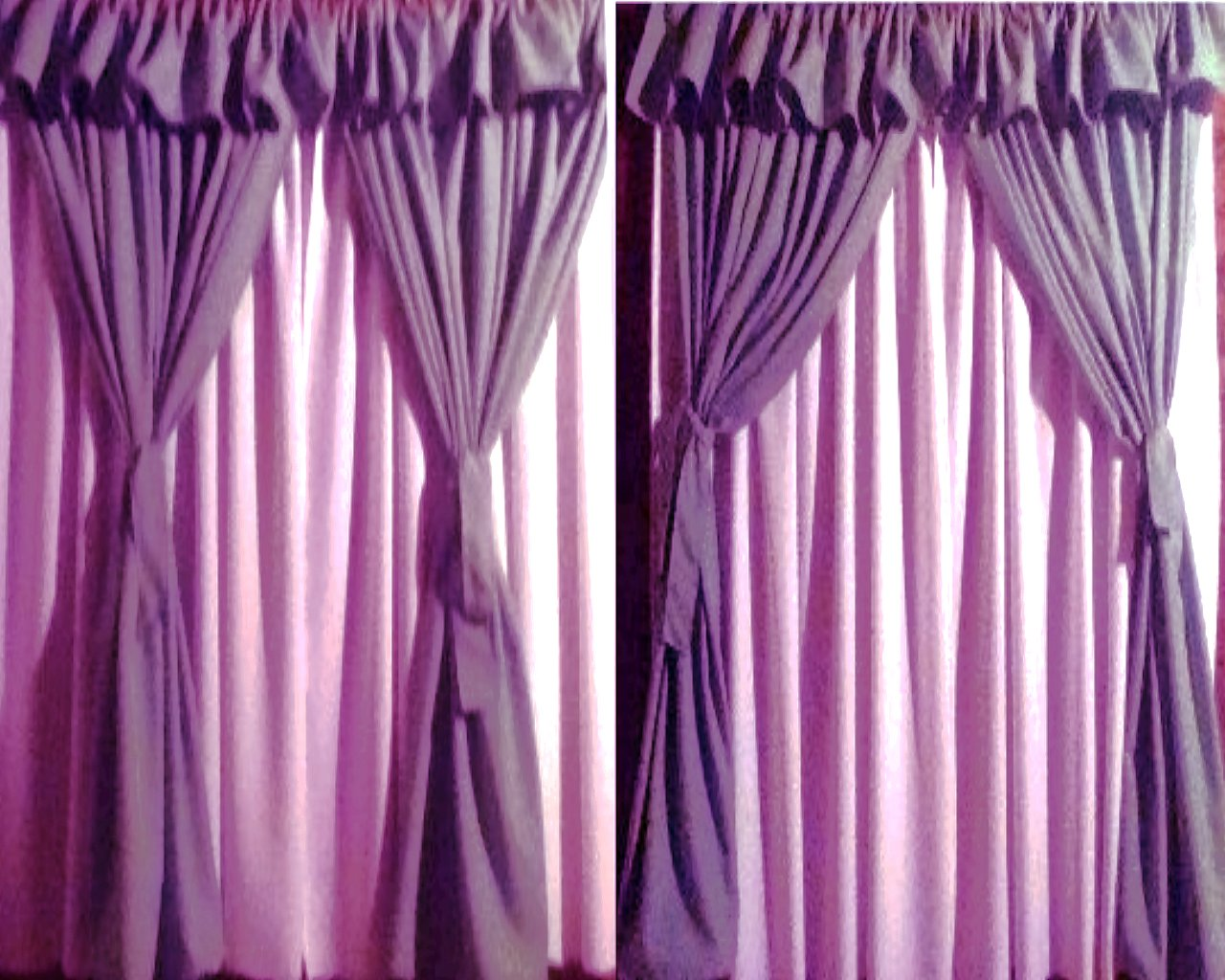 Cortinas de ba o dobles for Cortinas artesanales