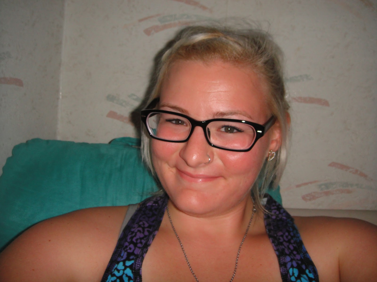 Chubby Blonde Wearing Glasses