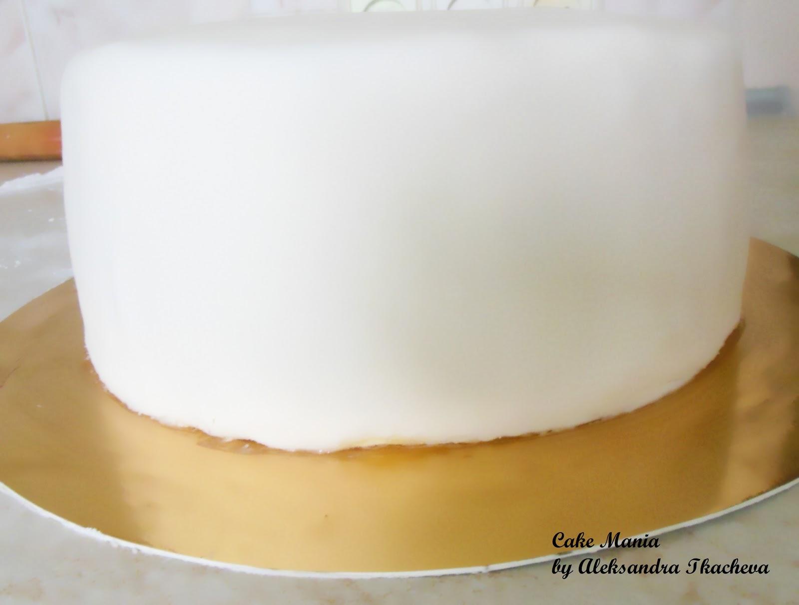 Свадебный торт с градиентом фото 5