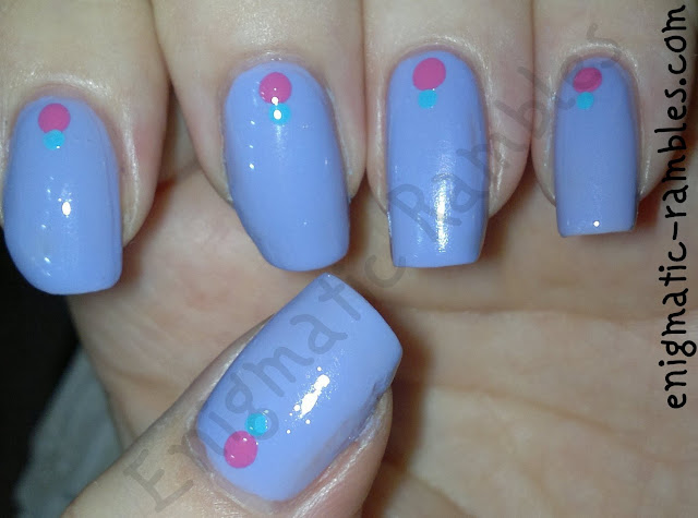 dots-nail-nails-art-barry-m-prickly-pear-models-own-pink-blush-maybelline-cool-blue