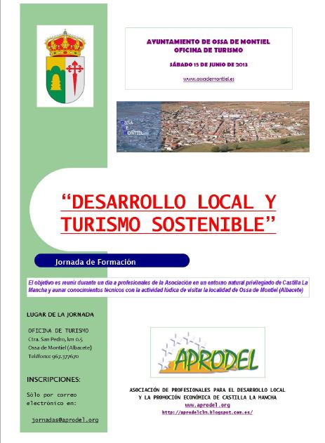 Jornada de desarrollo local y turismo sostenible for Oficina de turismo albacete
