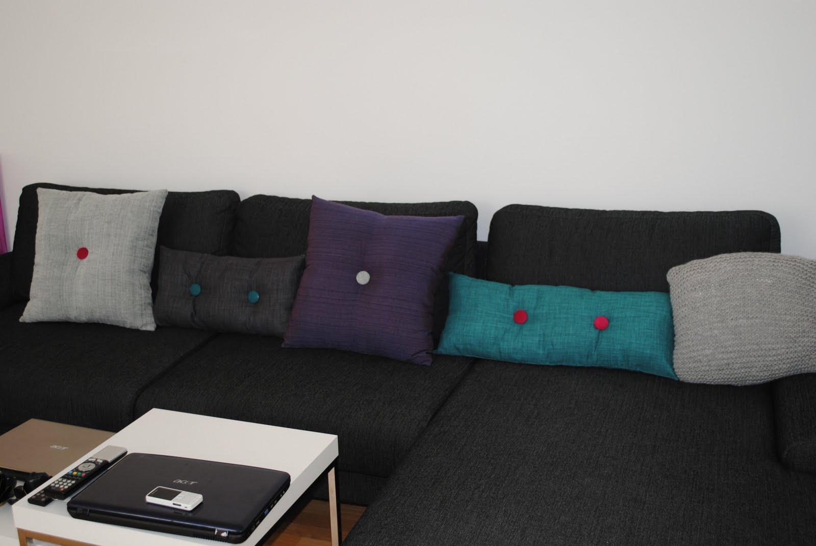 Julies kreahule: nye sofapuder i hay stilen