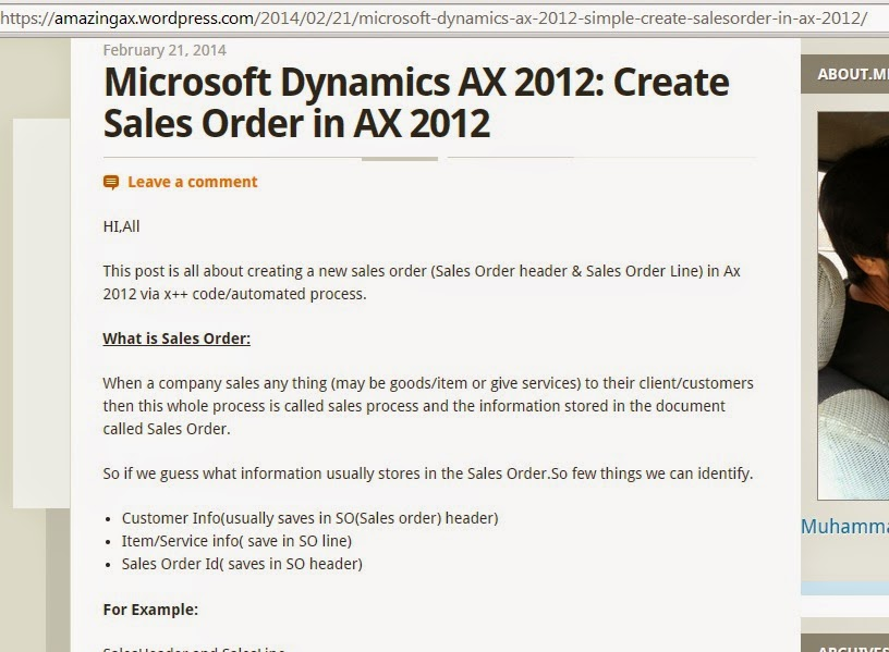 Create Sales Order in AX 2012
