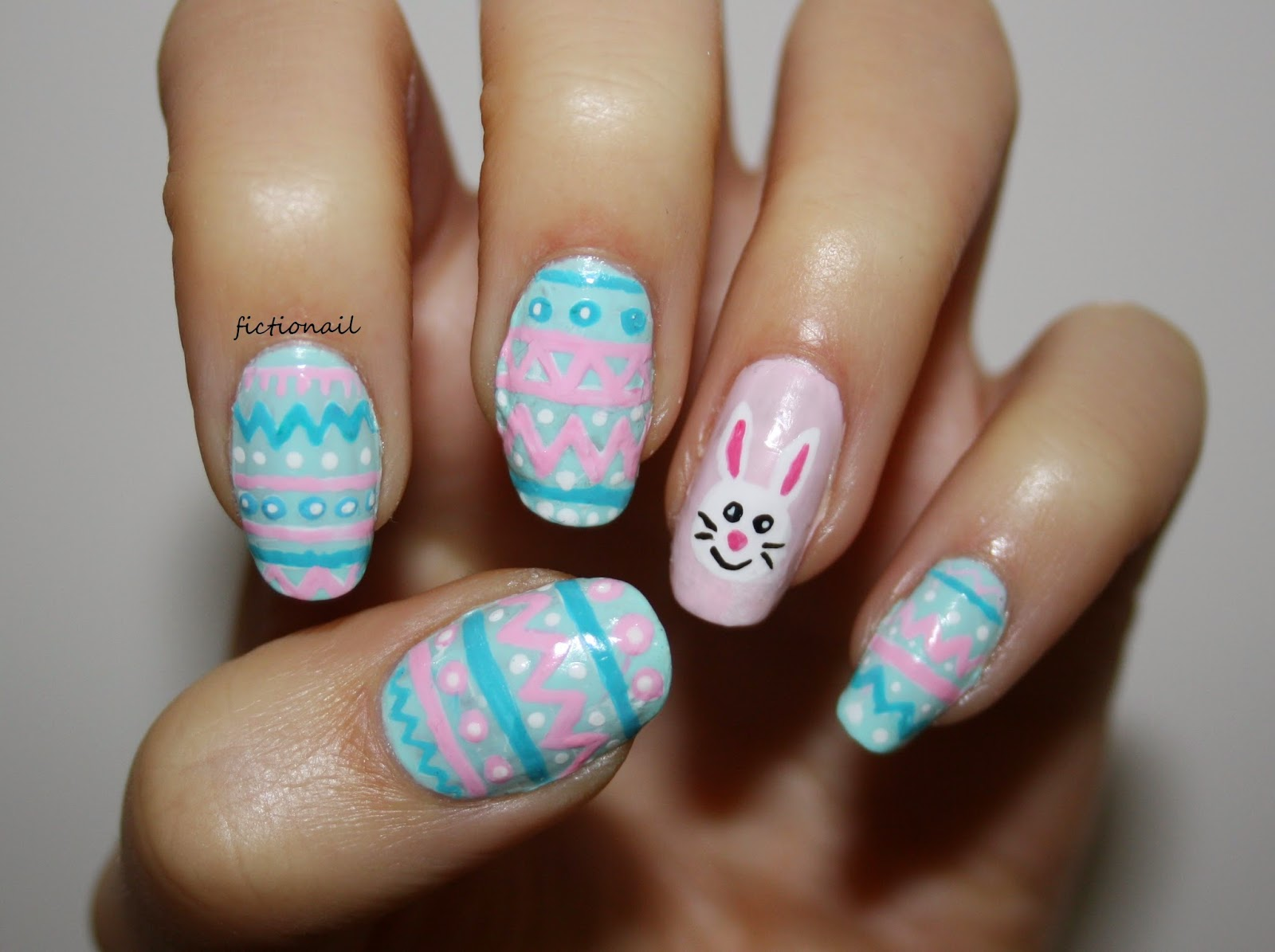 Easter Egg Bunny Nail Art