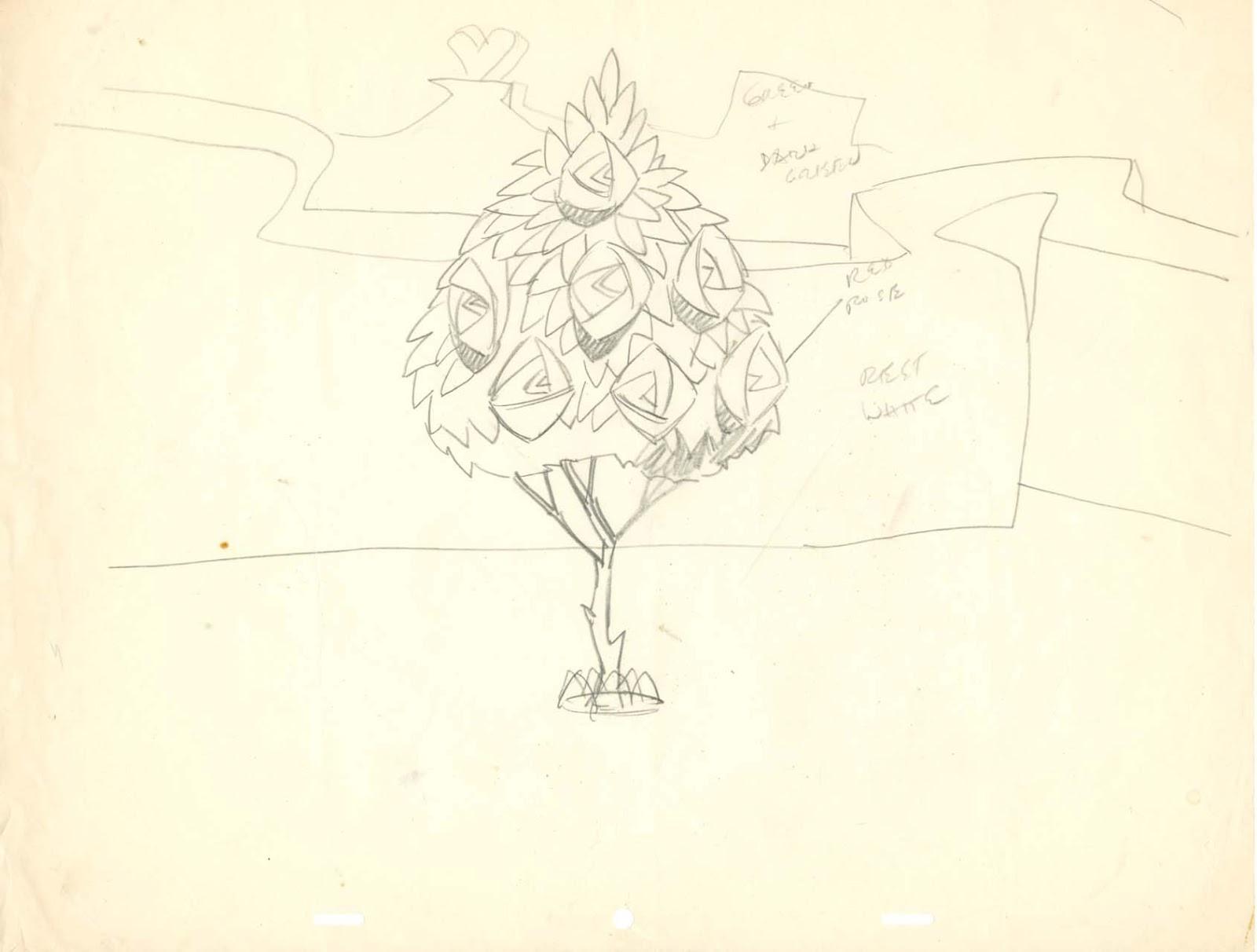 vintage disney alice in wonderland queen of hearts rose tree