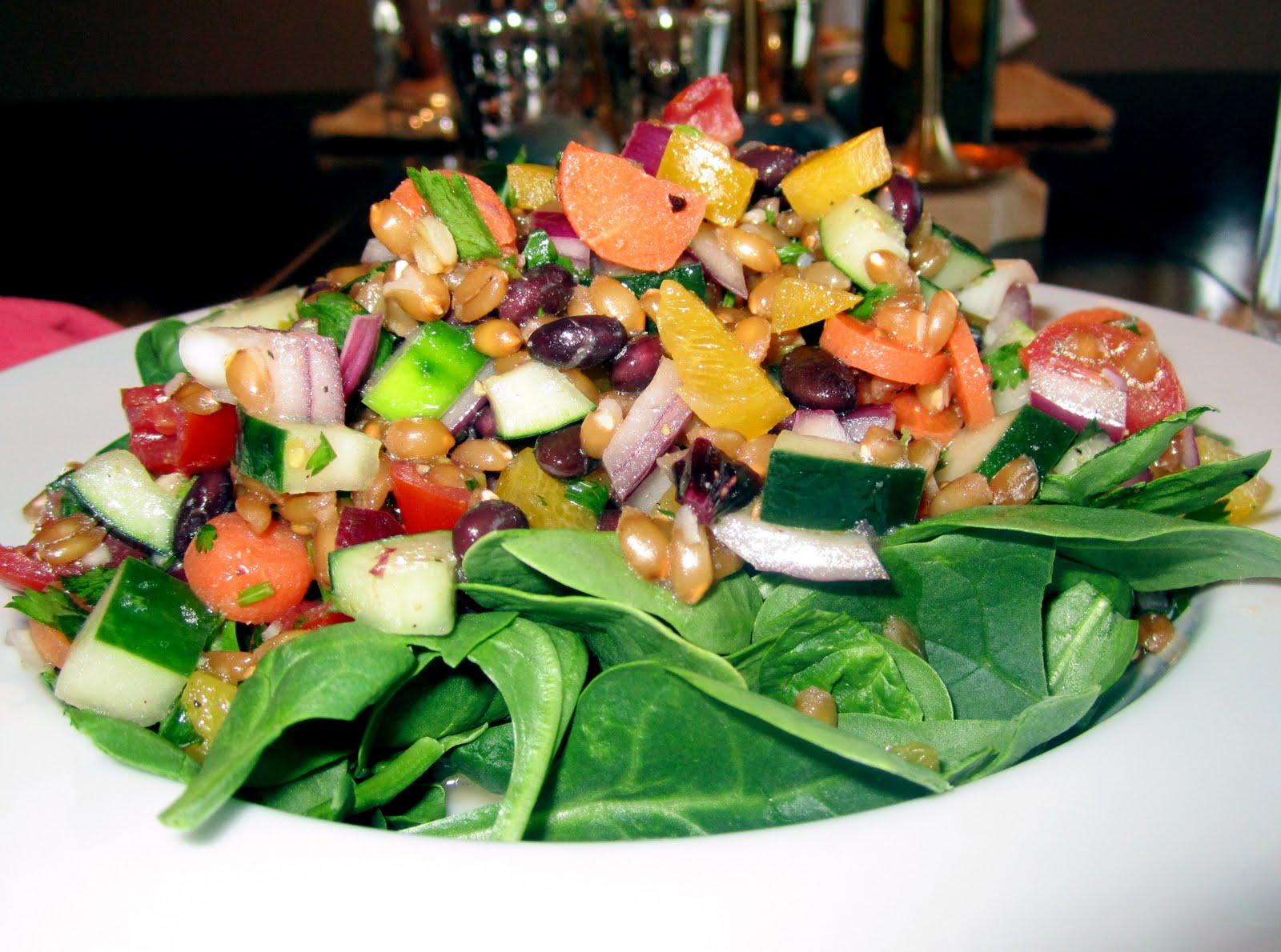 a little fancy: cilantro lime spelt berry salad