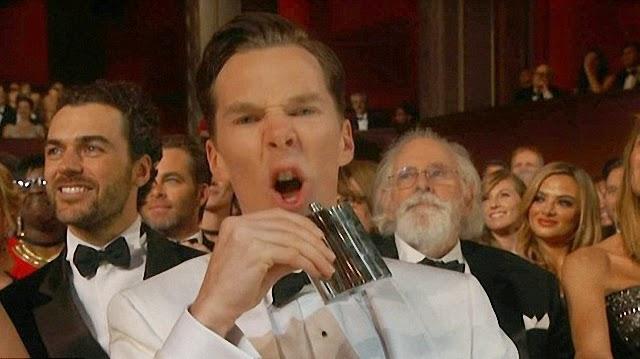 El borracho de Benedict Cumberbatch en los premios Óscar