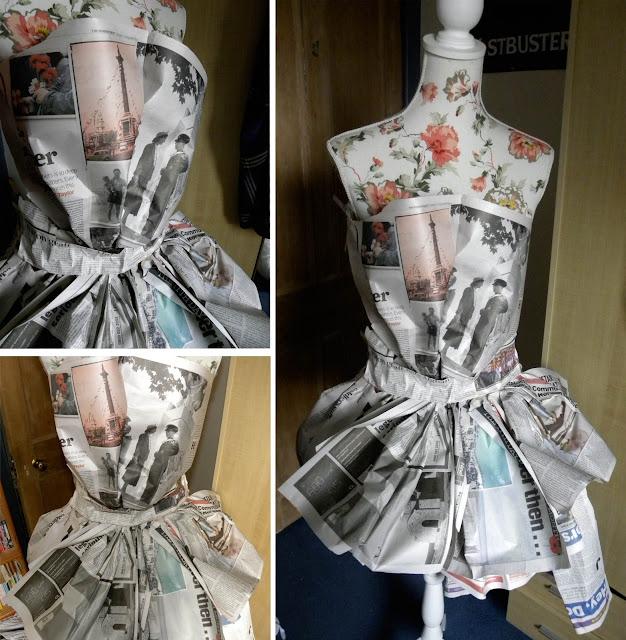 Dress made of newspaper