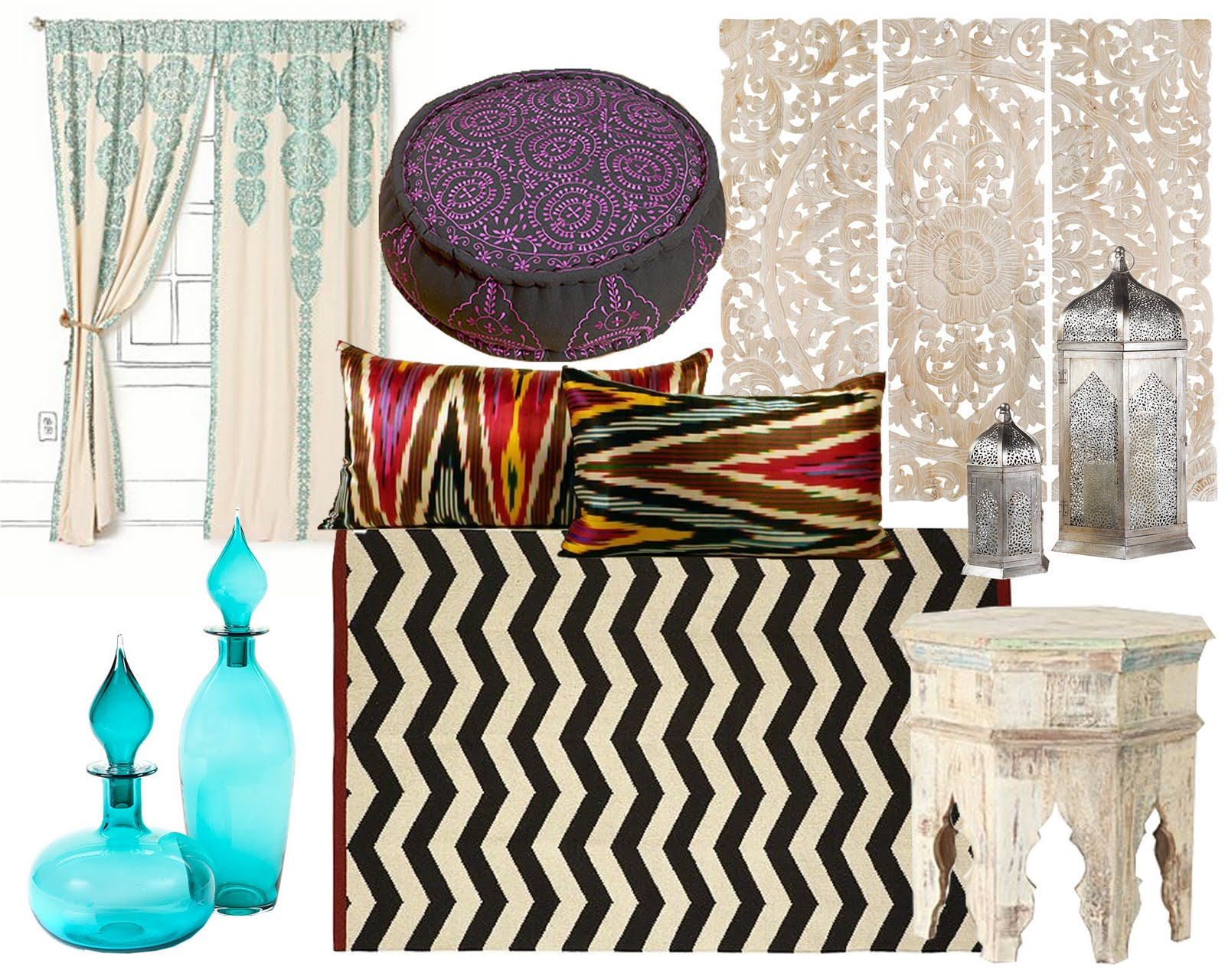 hemline blog moroccan inspired home