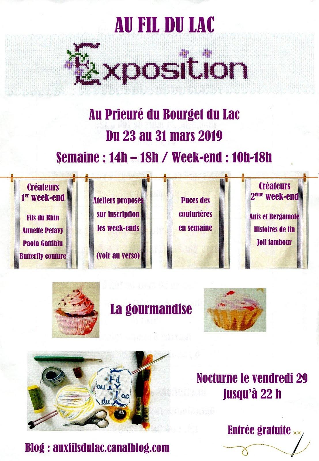 Exposition au Bourget du lac du 23 au 31 mars
