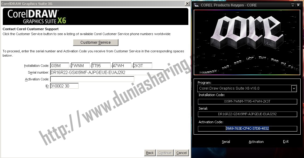activation code for corel draw x6
