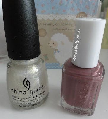 China glaze 951 White cap and Essie 610 Island hopping