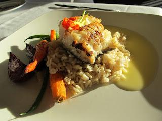 Food from Oak Bay Marina Restaurant