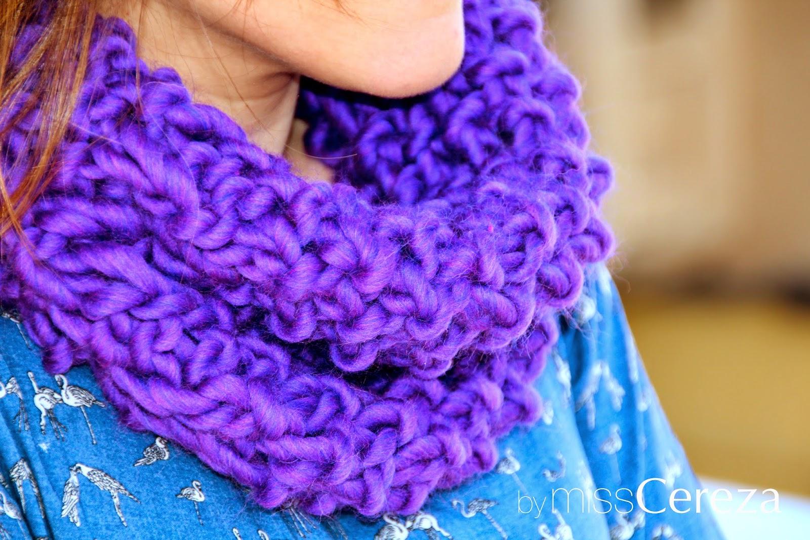 DIY bufanda lila