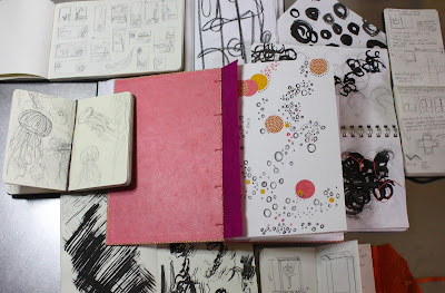 Handmade sketchbooks in Nashville