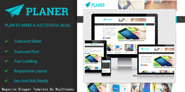 Planer Responsive Blogger Template Free Download