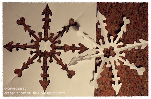 how to make a snowflake stencil