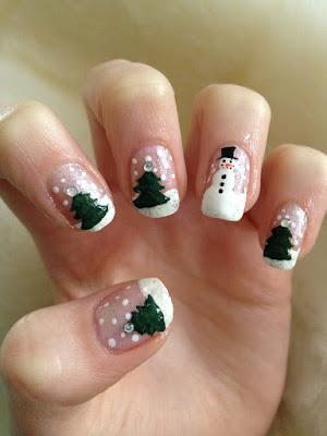 merry christmas nail designs