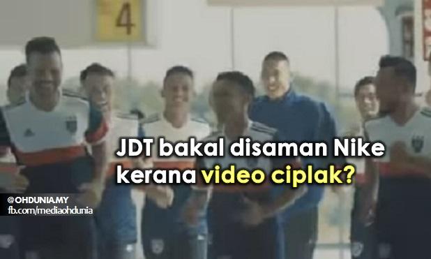 JDT Bakal Disaman Nike Kerana Video Ciplak?