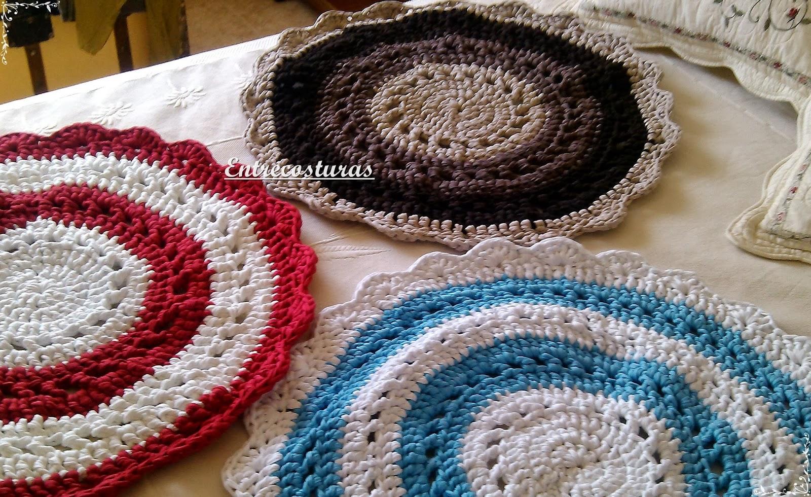 Entrecosturas alfombras y salvamanteles de trapillo - Alfombras bano originales ...