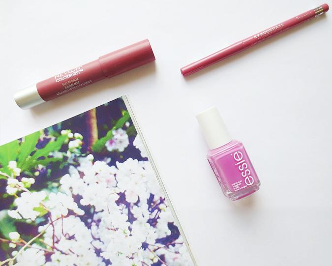Pink lipstick nail polish revlon rimmel sultry eastend snob