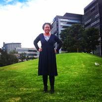 Carly Findlay on a hill
